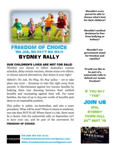 Sydney Sept 20th 2015 Rally